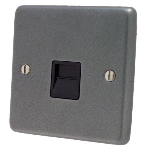 G&H CP33B Standard Plate Pewter 1 Gang Master BT Telephone Socket